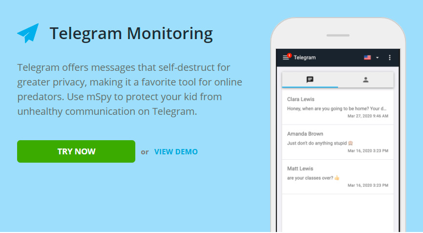 Telegram monitoring for android 9